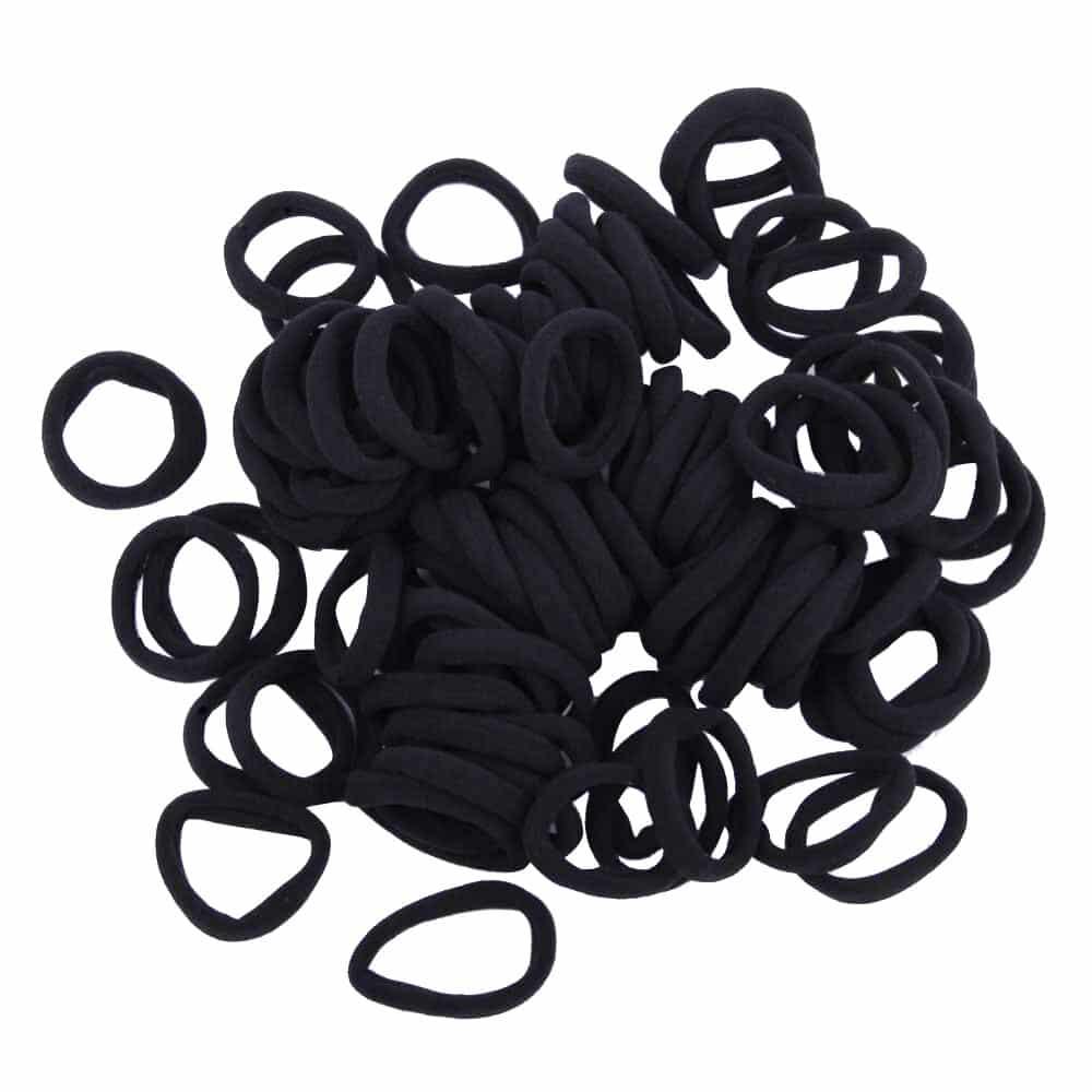 Black Hair Ties 1