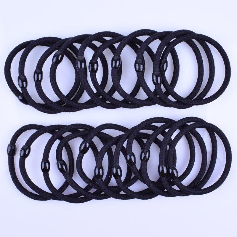 12pcs/lot 4MM Black Elastic Hair Bands Ponytail Holder Hair Ties Ring Scrunchy Rubber Bands Girls Hair Accessories Headwear