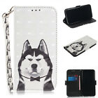 2018Painting Magnetic Flip Wallet PU Leather Stand Strap Mobile Phone Case Cover