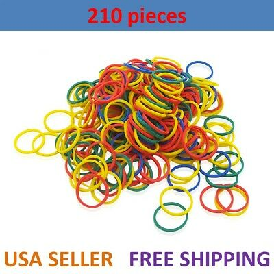 210pcs Small Elastic Hair Braid Rubber Bands Multi Color Mixed Ponytail No Black
