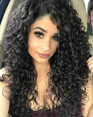 ATOZ HAIR Black Synthetic Wig Long Curly Afro African American Wigs for Women US