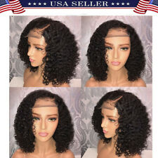 Brazilian Lace Front Black Natural Full Wig For Women Human Hair Bob Wave Wigs