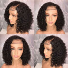 Brazilian Lace Front Black Natural Full Wig For Women party Hair Bob Wave Wigs