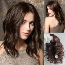 Fashion Sexy Women Medium Long Curly Wigs Black Brown Wavy Hair Natural Party