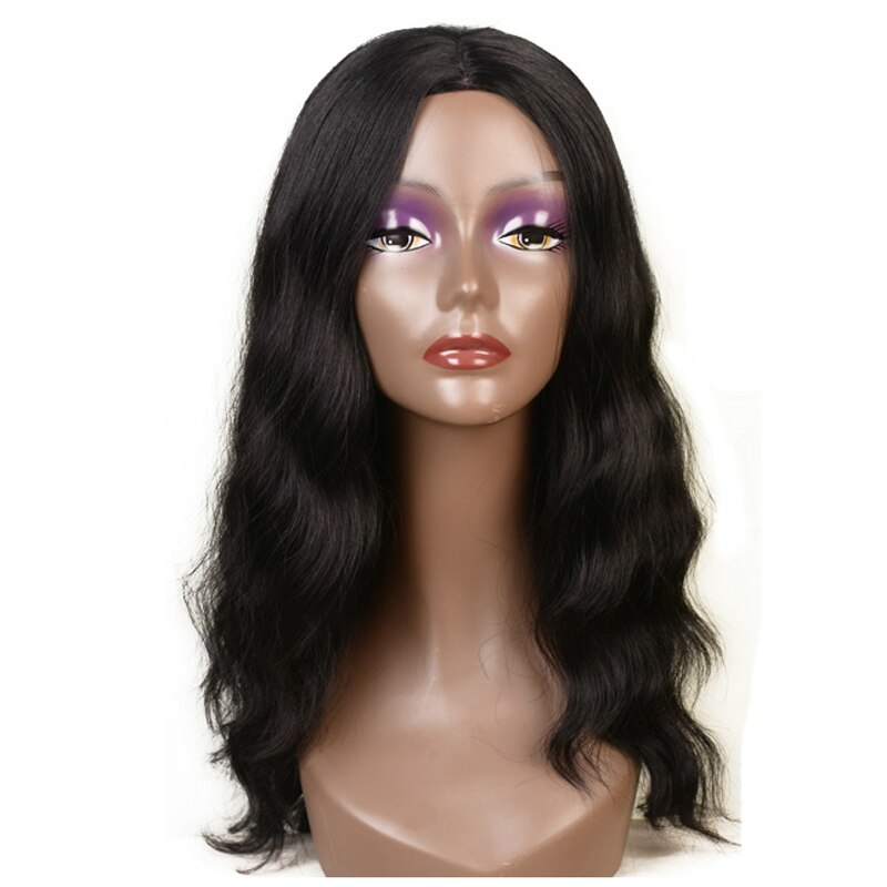 Feibin Long Wigs For Black Women Synthetic Afro Wavy Nature Black Hair 22 inches 55cm