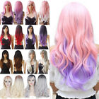 High Style 3/4 Half Wig Long Straight Hair Synthetic Ombre Wigs For Women Daily