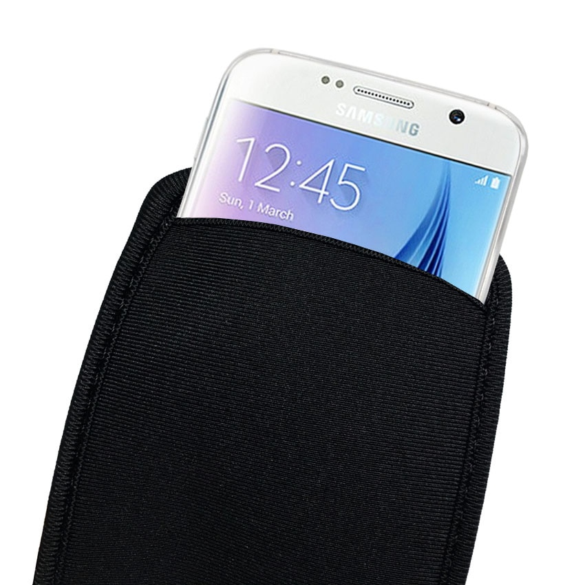 Soft Flexible Neoprene Protective Pouch Bag for for Samsung Galaxy S10 S9 S8 S7 S6 S5 Protect Sleeves Pouch Case For S9 Plus S9+