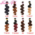 100% Brazilian Virgin Body Wave Hair Bundles Ombre 8A Hair Extensions Weave Weft