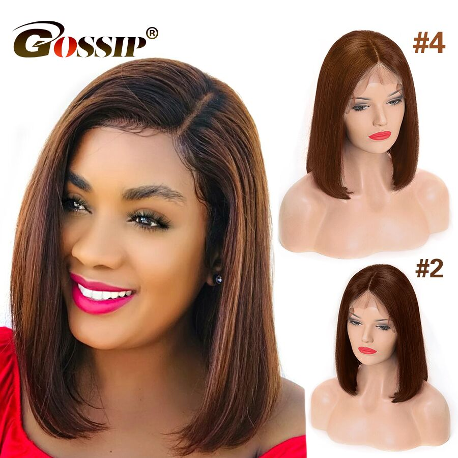 13x6 Bob Lace Front Wigs Short Human Hair Wigs Bob Wig Lace Front Human Hair Wigs For Black Women Straight Remy Brazilian Hair