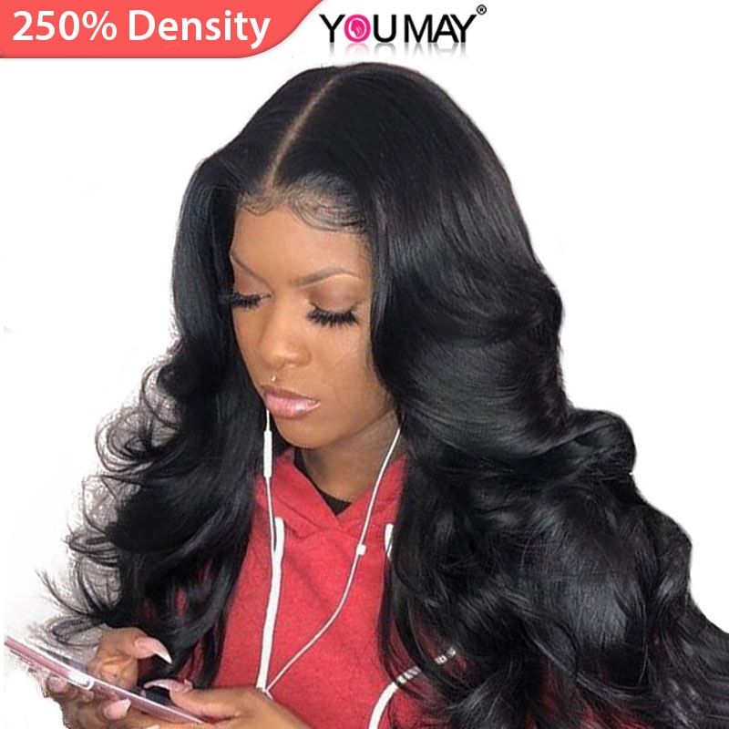 13x6 Lace Front Human Hair Wigs For Women 250 Density Brazilian Body Wave 360 Lace Frontal Wigs Pre Plucked Baby Hair You May