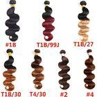 Brazilian Colored Body Wave Human Hair Bundles 1Bundle 100g Body Wave Extensions