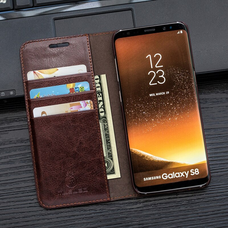 Case For S10e S9+ S8 Plus Musubo Luxury Leather Flip Cover for Samsung Galaxy Note 9 Note 8 S7 edge Cases Wallet phone bag funda