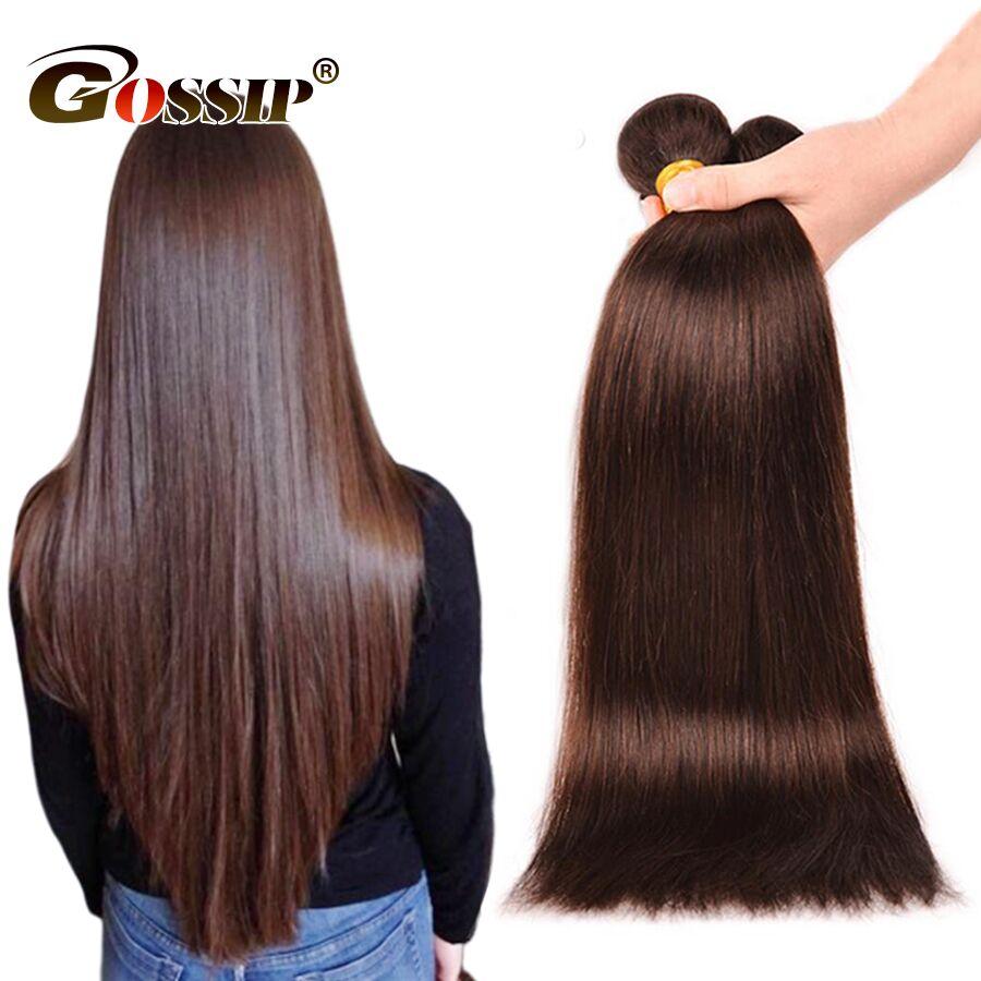 Gossip Brazilian Hair Weave Bundles 100% Human Hair Bundles Double Weft Hair Extension Non Remy Straight Hair Bundles