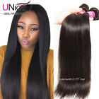 UNice Brazilian Virgin Hair Straight 1/3 Bundles Straight Human Hair Extensions