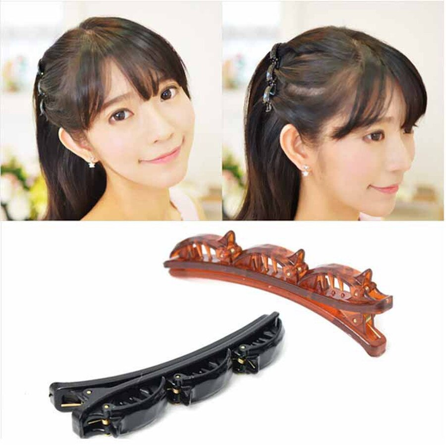 3 Pcs New Fashion Girls Women Double Hair Pin Hair Clips Barrette Comb Hairpin Disk Gifts Hair Accessories Styling Tools