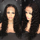 Curly Human Hair Wigs Natural Bleached Knots Brazilian Hair Lace Frontal wigs