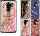 For T-Mobile REVVL Phone Case Quicksand Clear Liquid Glitter TPU Cover