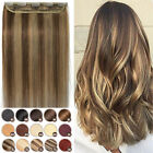 Invisible Clip in One Piece THICK Remy Human Hair Extensions 3/4Full Head P780