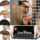 One Piece Clip in Real Remy Human Hair Extensions Full Head Ombre Blonde Brown