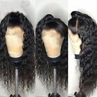 Soft Brazilian Virgin Hair Wig Lace Front Human Hair Wigs Deep Wave Curly Hair