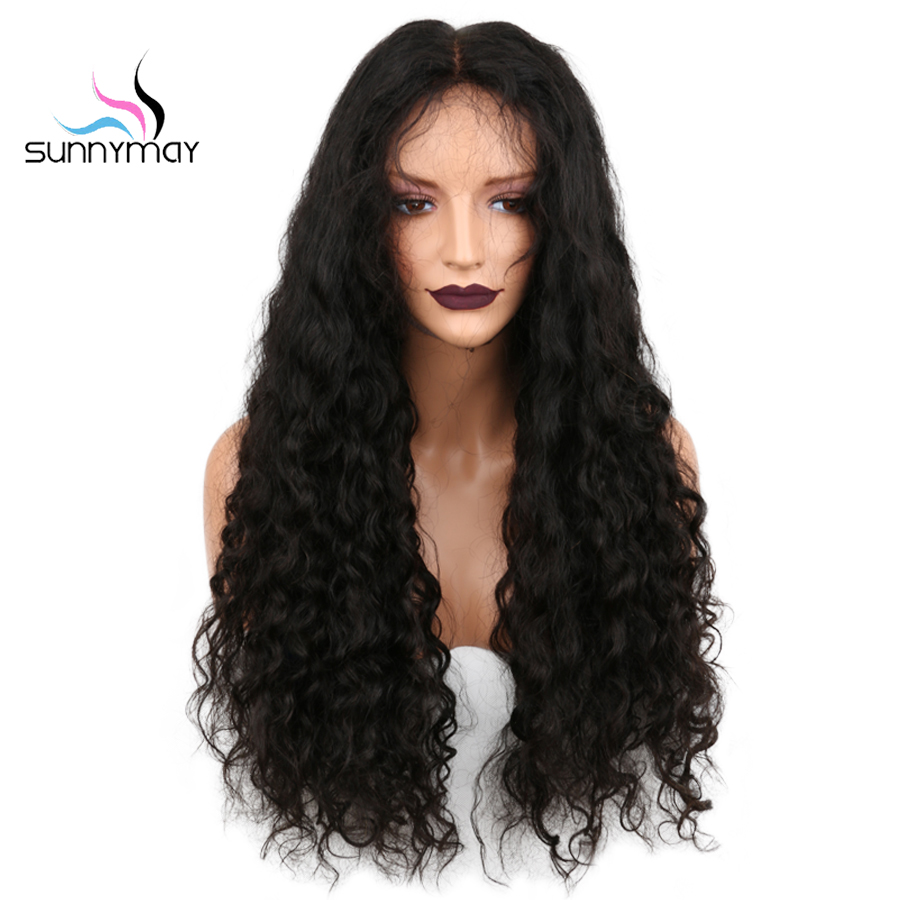 Sunnymay 13x4 Lace Front Human Hair Wigs 130% Pre Plucked Curly Lace Front Wig With Baby Hair Brazilian Remy Hair Wig For Women