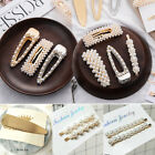 Women Elegant Pearl Leaf Hair Clip Hairband Comb Bobby Pin Barrette Hairpin