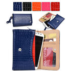 Womens Croc Skin Wallet Case Clutch Cover for Smart Cell Phones by KroO MXDV2