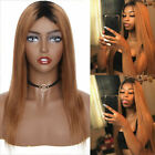 100% Real Remy Brazilian Human Hair Wig Body Wavy Curly Long Hair Ombre Wigs USA