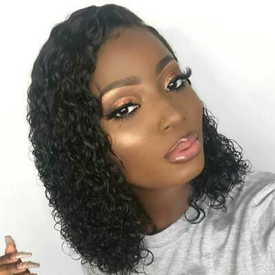 12'' Hair Curly Lace Front Human Hair Wigs With Baby Hair Brazilian Remy Hair