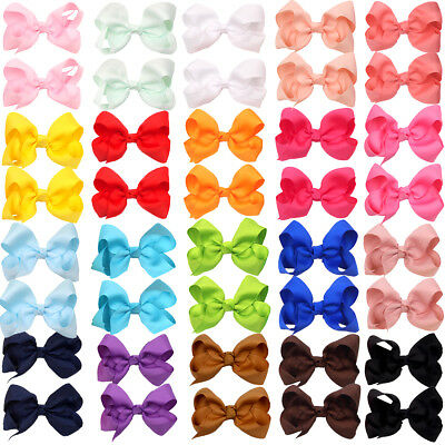 "40Pc Boutique Pinwheel 3"" Hair Bows Alligator Clips For Babies Toddlers In Pairs"