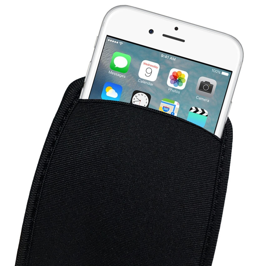 Black Elastic Soft Flexible Neoprene Protective Pouch Bag for iPhone XS MAX 6S SE Protect Sleeves Pouch Case for iPhone 7 8 Plus