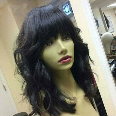 Body Wave Human Hair Full Lace Wigs With Bangs Brazilian Lace Front Wigs USA