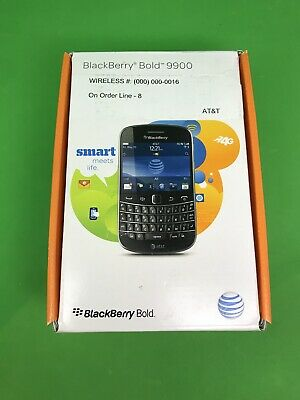 Brand New - Sealed - BlackBerry Bold 9900 - 8GB - Black (AT&T) Great Price!!!