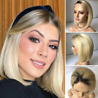 Deluxe Ombre Blonde Bob Brazilian Human Hair Wig Glueless Lace Front Wigs 546
