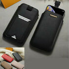 Fashion Card Wallet Holster Pouch Bag Soft PU Leather Mobile Phone Case Cover