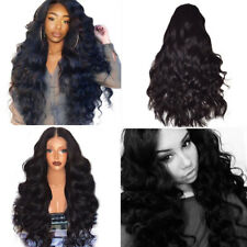 Natural Brazilian Remy Hair Wig Women Body Wave Full Lace Front Hair Wigs US
