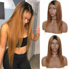 Sexy Women Ladies Ombre Blonde Long Wig 100% Real Brazilian Remy Human Hair Wigs