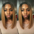 Short 8A Brazilian 100 Real Human Hair Wigs Ombre Bob Straight Full Wig Straight