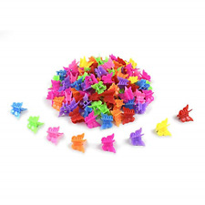 100 Pcs Mini Butterfly Hair Clips Plastic Hair Accessories Butterfly Barrettes