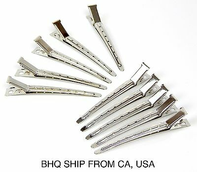 10Pcs Metal Hairdressing Duck Bill Alligator Clips Professional Hair Clip Salon