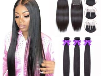 Human Hair Bundles With Closure 20