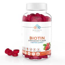 Integrity Vitamins Biotin Gummy Supplement - Hair, Skin & Nails,120 Gummies