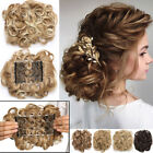 MEGA LARGE THICK Curly Chignon Messy Bun Updo Clip in Hair Extensions AS REAL US