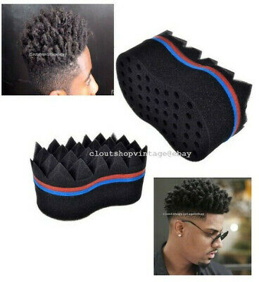 New Hair Sponge Brush Twist Curl Barber Pro For Afro Dreads Coil Waves Locs