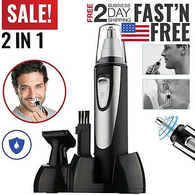 Nose Hair Trimmer Nose and Ear Eyebrow Clippers Facial Nasal Electric For Mens