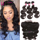 UNice 8A Peruvian Body Wave Human Hair 3 Bundles With 13*4 Lace Frontal Closure