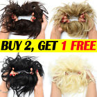 100% LARGE Messy Bun Scrunchie Hair Extension Ponytail As Human Hair Piece 50G
