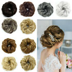 100% Natural Curly Messy Bun Hair Piece Scrunchie Hair Extensions as Human