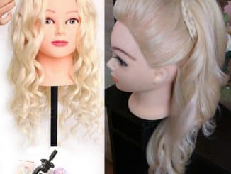 Human Hair Mannequin Head 16