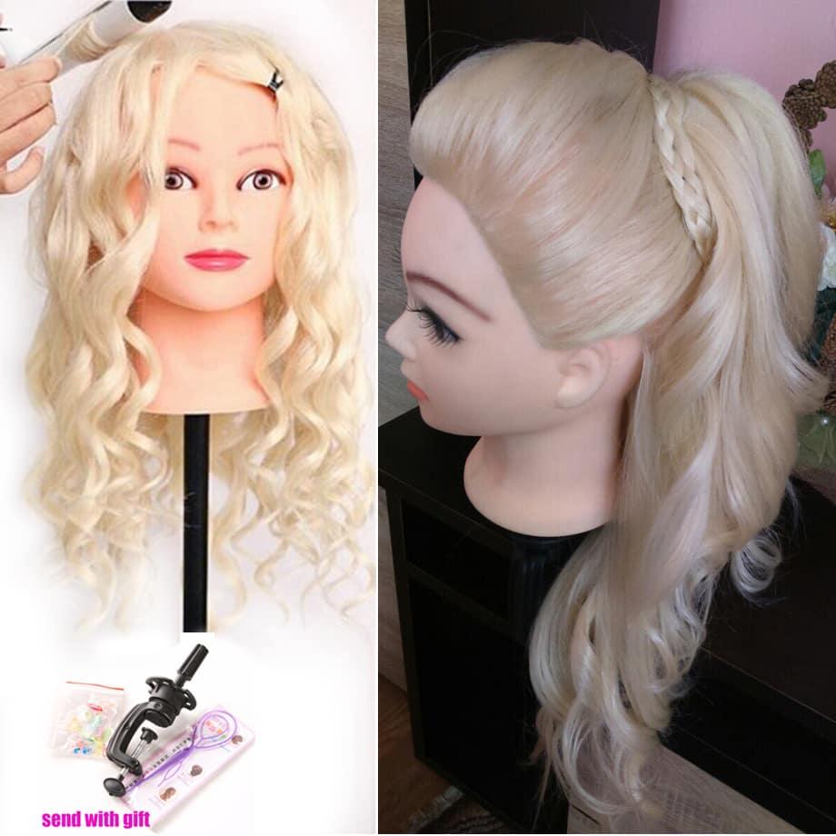 Human Hair Mannequin Head 1